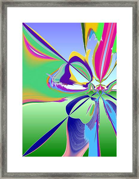 Outside With Sbux Framed Print