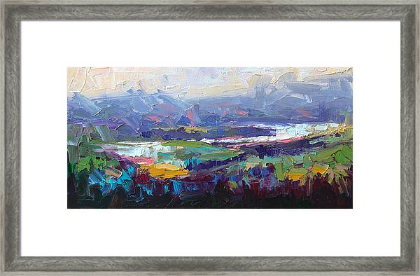 Overlook Abstract Landscape Framed Print