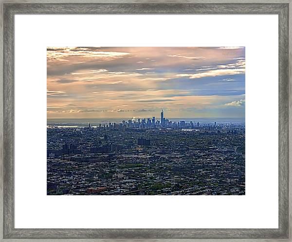 Over East New York Framed Print