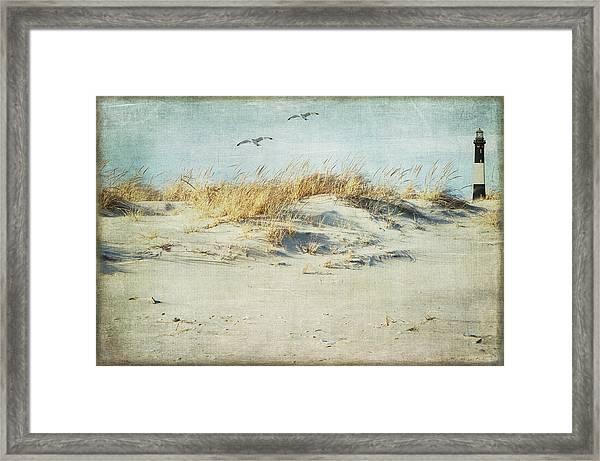Over The Dune Framed Print