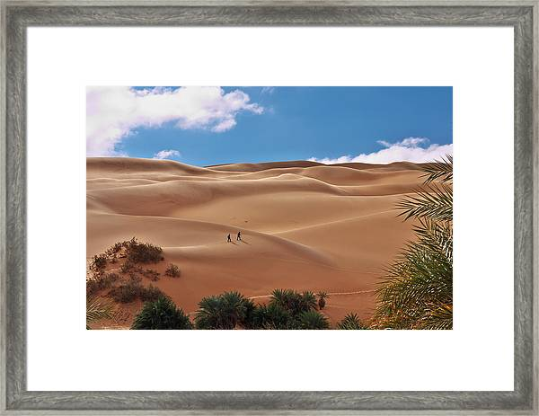 Over The Dunes Framed Print