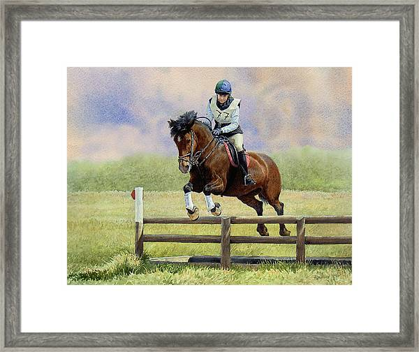 Over The First Hurdle Framed Print