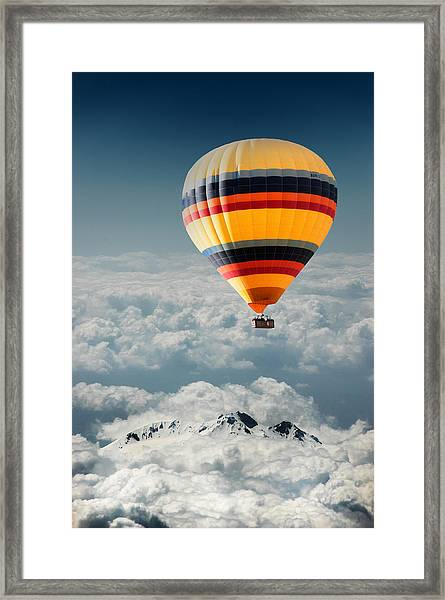 Over The Mountain Framed Print