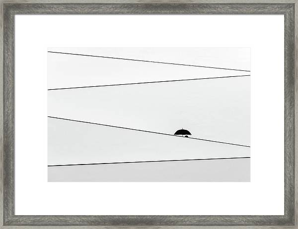 Over There, It's Raining Framed Print by Fernando Correia Da