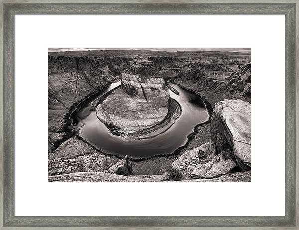 Overcast At Horseshoe Bend Framed Print