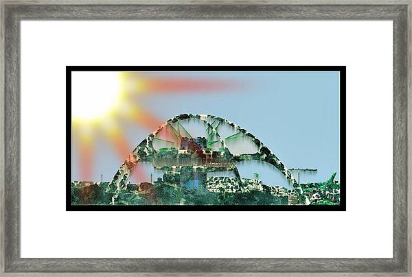 Overgrown Post-apocolyptic Lax Tower Framed Print