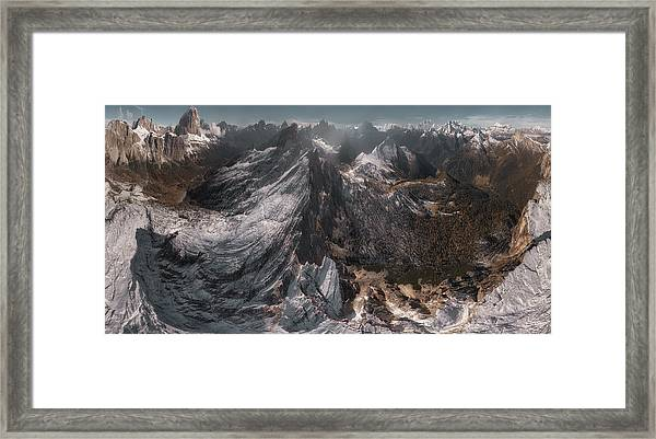 Overlooking Geisler Gruppe Framed Print