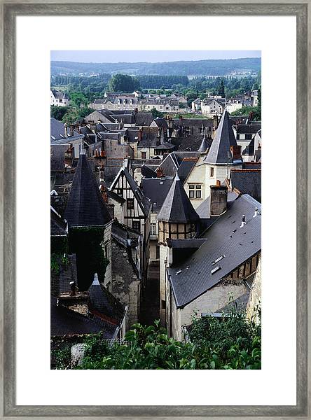 Overlooking Old Town Rooftops Framed Print