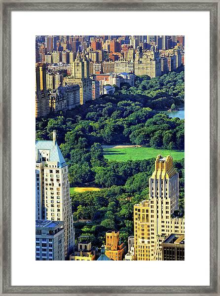 Overview Of Central Park Framed Print