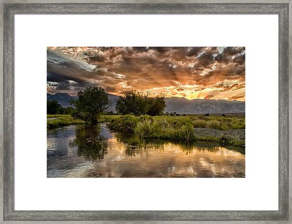 Owens River Sunset Framed Print