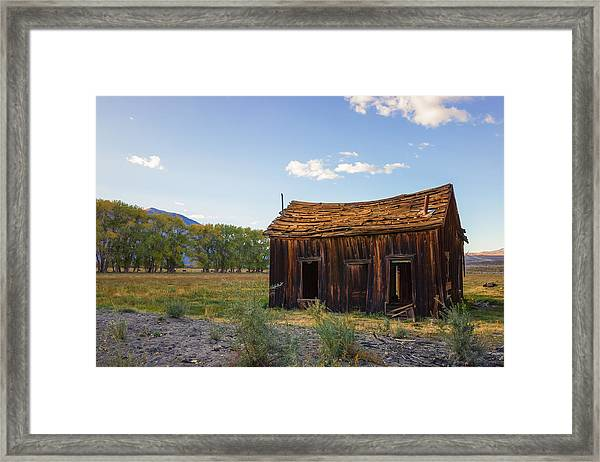 Framed Print featuring the photograph Owens Valley Shack by Priya Ghose