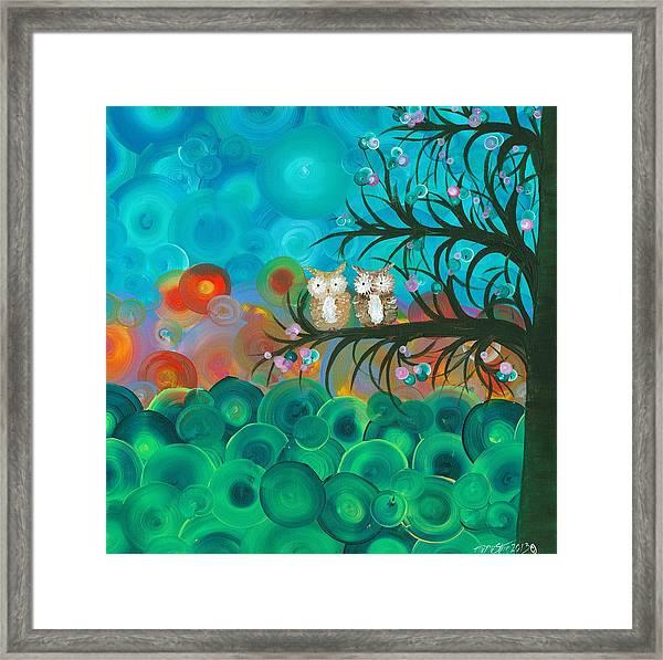 Owl Couples - 02 Framed Print