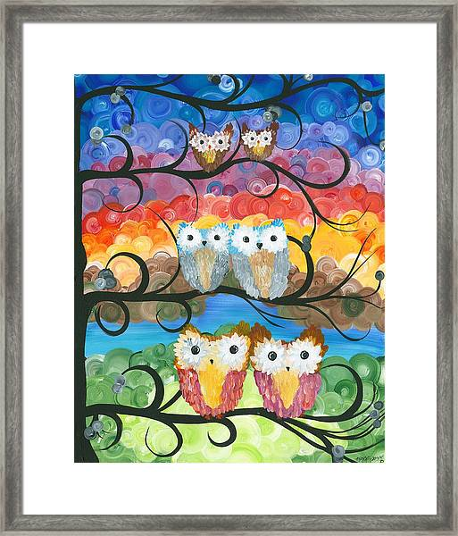 Owl Expressions - 00 Framed Print