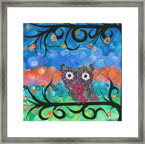 Owl Expressions - 02 Framed Print