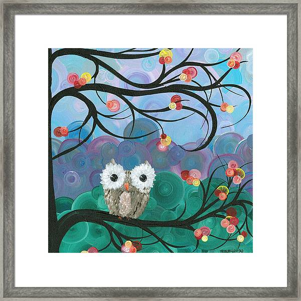 Owl Expressions - 03 Framed Print