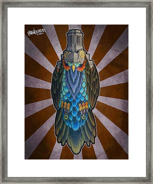 Owl Of The Tower Framed Print
