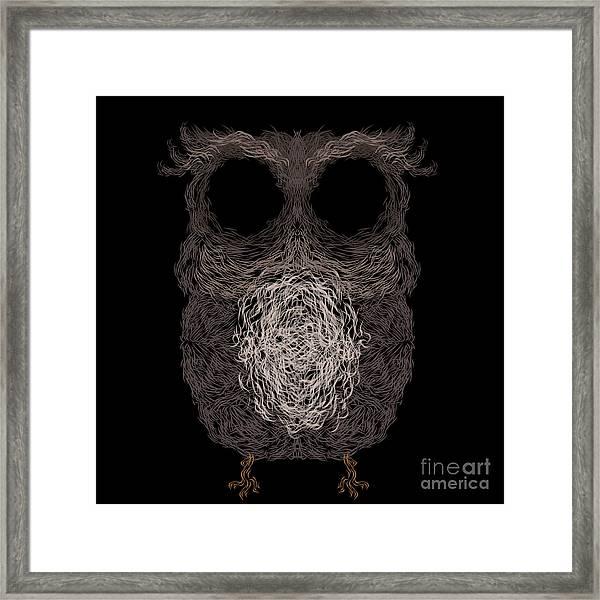 Owl Poster. Vector Illustration Framed Print