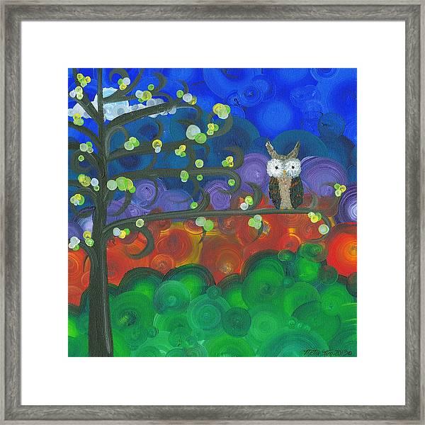 Owl Singles - 04 Framed Print