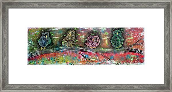 Owl Totem Framed Print by Laura Barbosa