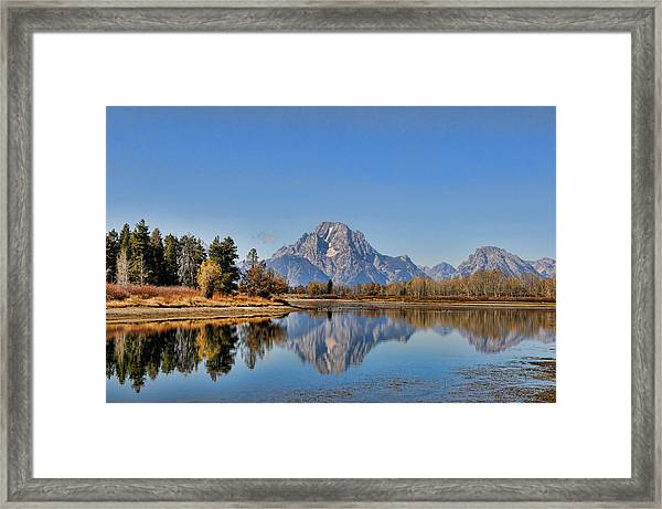 Framed Print featuring the photograph Oxbow Bend by David Armstrong