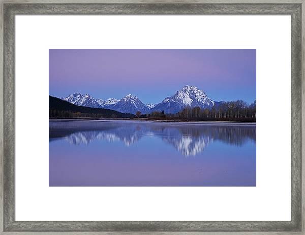 Oxbow Bend Sunrise 1 Framed Print