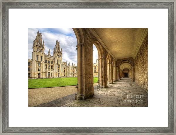 Oxford University - All Souls College 2.0 Framed Print
