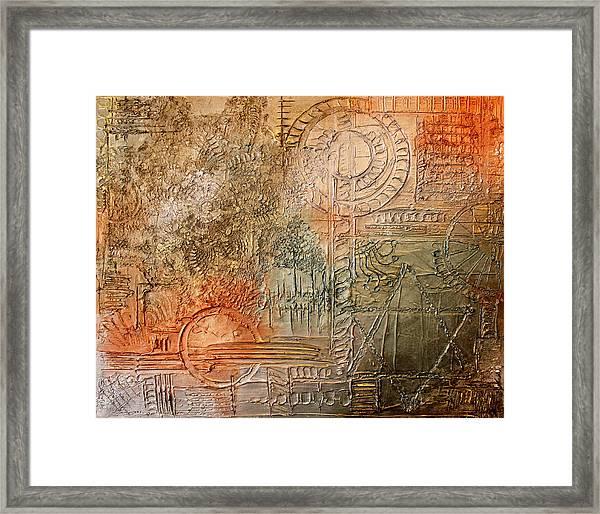 Oxidization Sacred Geometry Framed Print