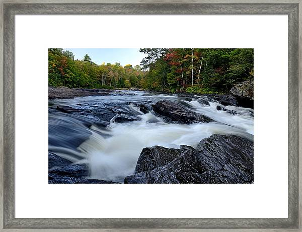 Oxtongue River Rapids Panoramic Framed Print