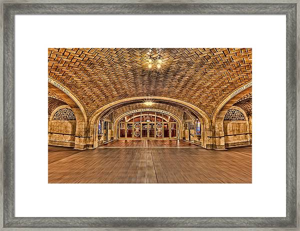 Framed Print featuring the photograph Oyster Bar Restaurant by Susan Candelario