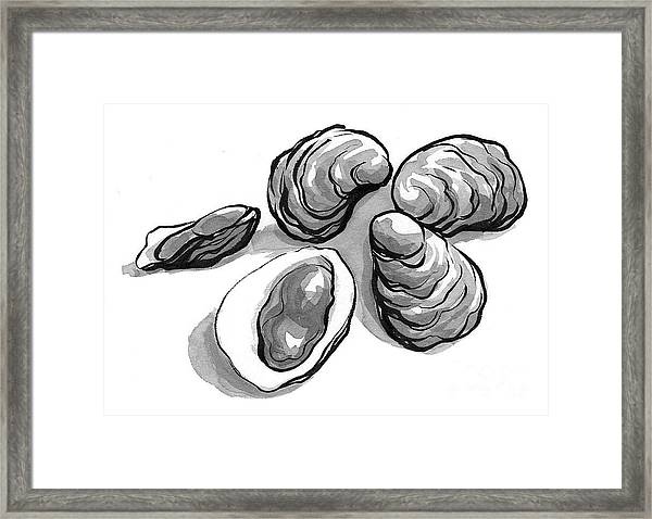 Oysters Framed Print by Laura Gilmore
