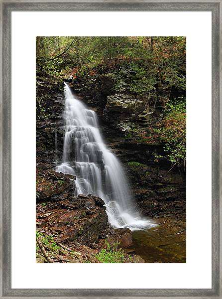 Ozone Falls  Framed Print