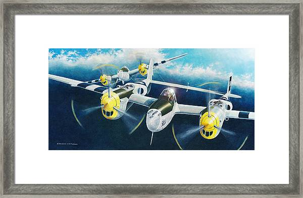 P-38 Lightnings Framed Print