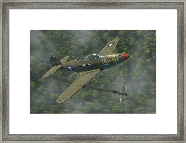 P-39 Airacobra Vs. Zero Framed Print