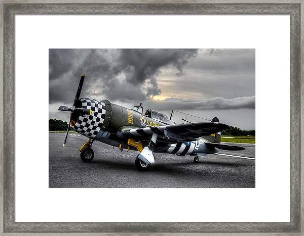 P-47 Sunset Framed Print
