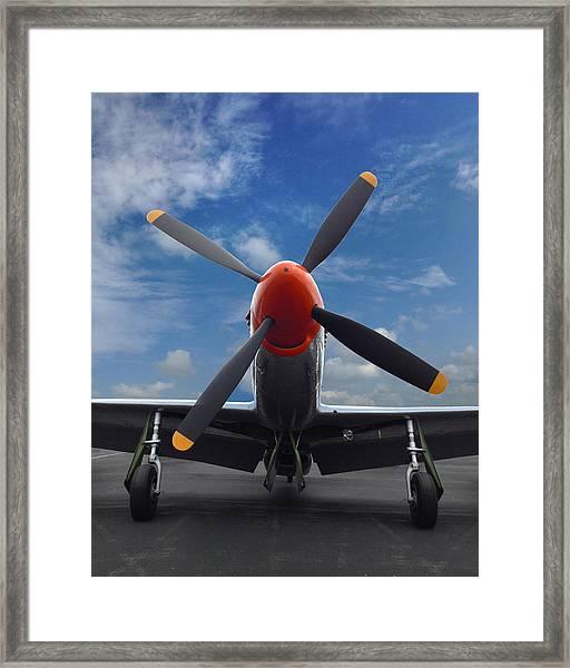 P-51 Ready For Flight Framed Print