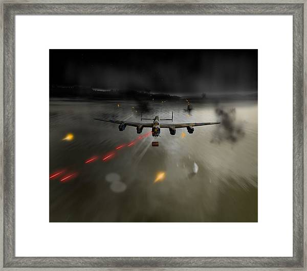 P-popsie Attacking The Mohne Dam Framed Print
