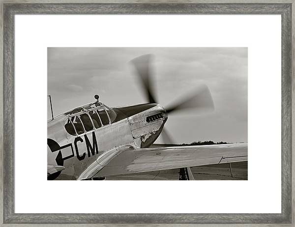 P51 Mustang Takeoff Ready Framed Print