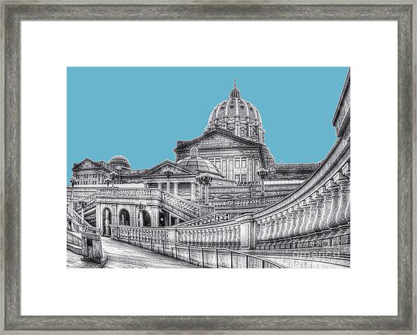 Pa Capitol Building Framed Print