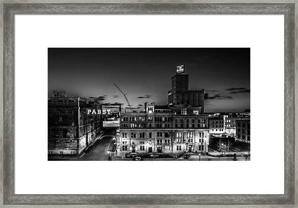 Pabst U-turn Monochrome Framed Print