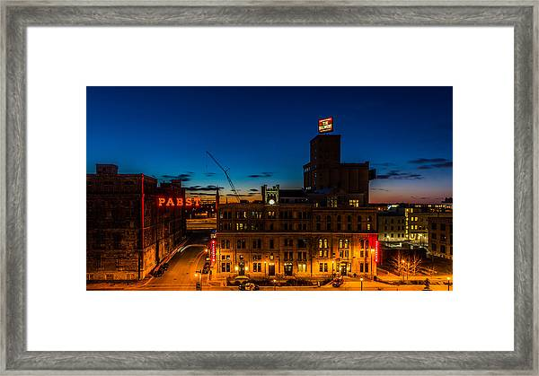Pabst U-turn Framed Print