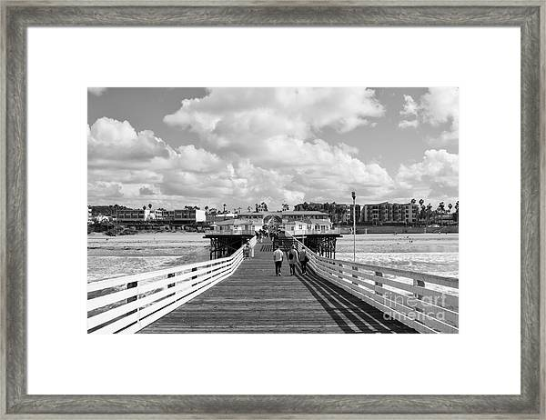 Pacific Beach From Crystal Pier Framed Print