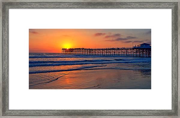 Pacific Beach Pier - Ex Lrg - Widescreen Framed Print