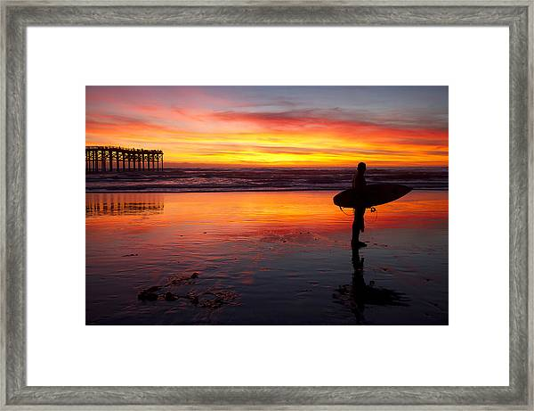 Pacific Beach Was On Fire Tonight Framed Print