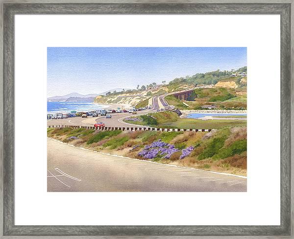 Pacific Coast Hwy Del Mar Framed Print