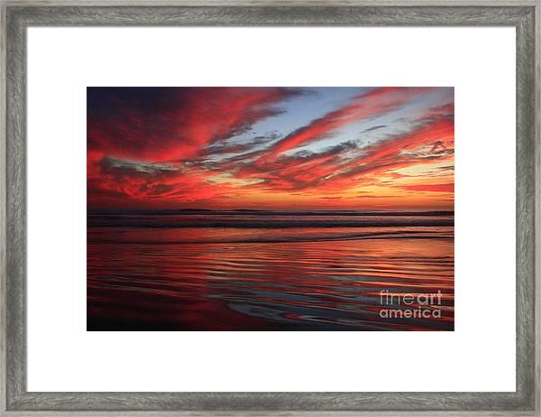 Oceanside Reflections Framed Print