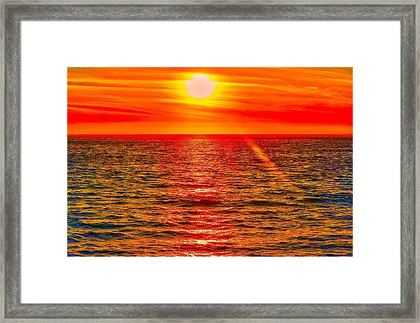 Pacific Sun Framed Print