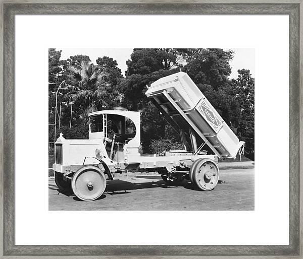 Packard Dump Truck Framed Print