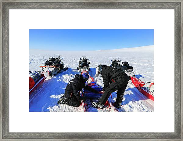 Packing And Adjusting Expedition Gear Framed Print