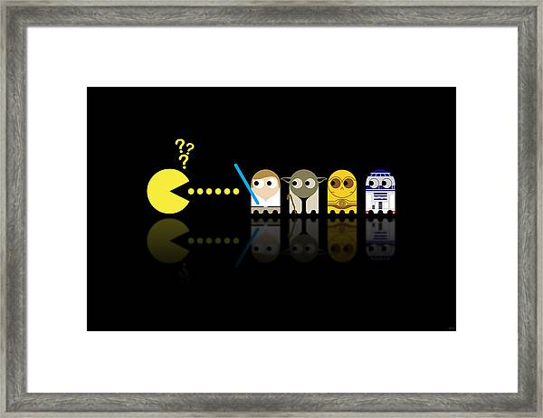 Pacman Star Wars - 3 Framed Print