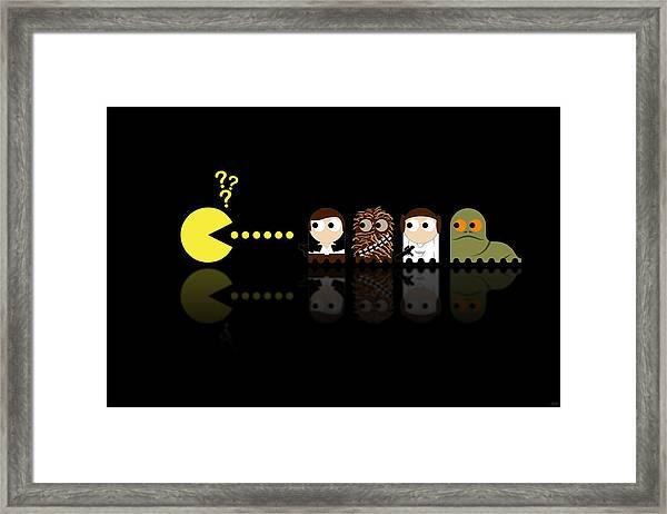 Pacman Star Wars - 4 Framed Print